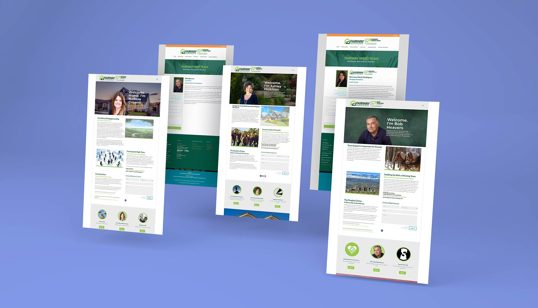 Fairway Site Landing Pages